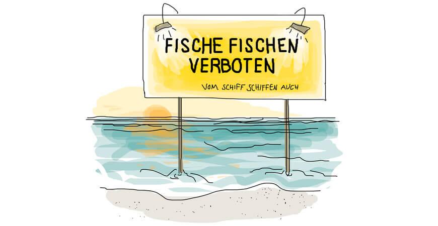 Fische fischen verboten